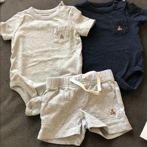 Baby boys onsies and shorts